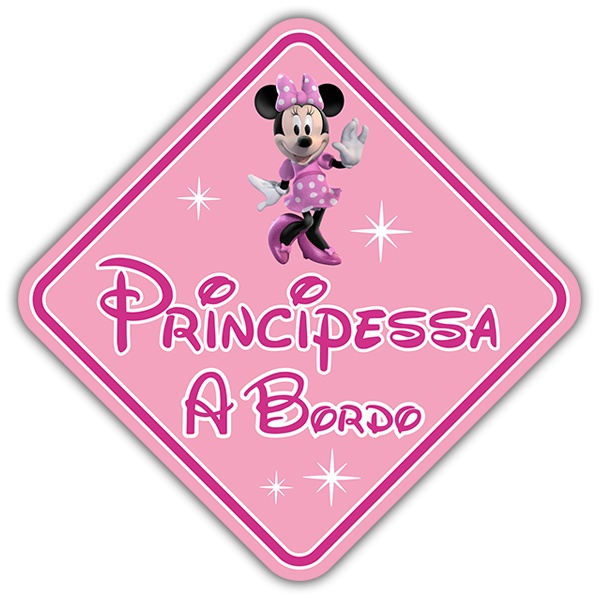 Pegatinas: Princesa a Bordo Disney - italiano