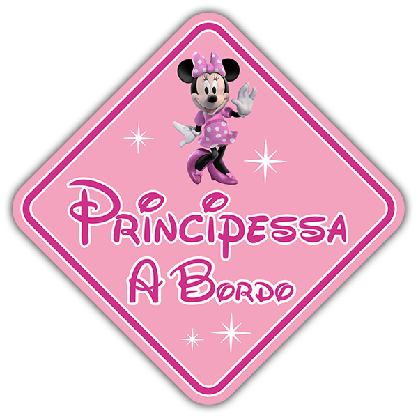 Pegatinas: Princesa a Bordo Disney - italiano 0