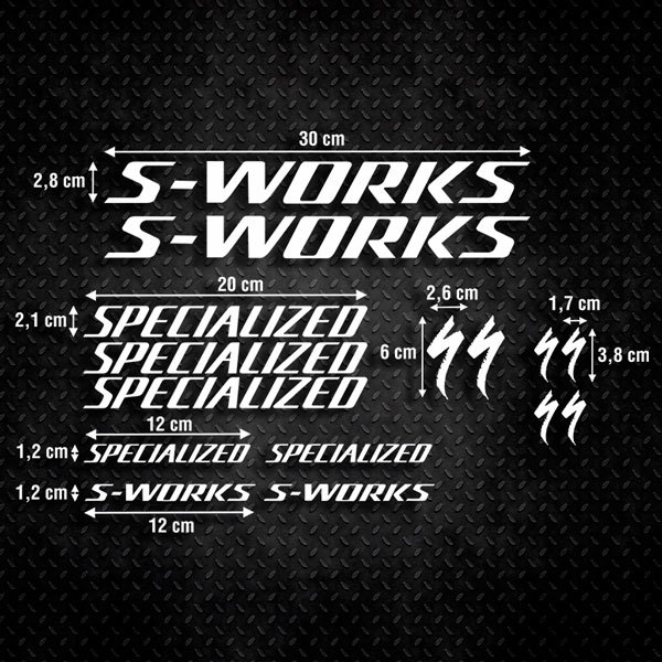 Pegatinas: Kit Bicicleta Specialized S-Works