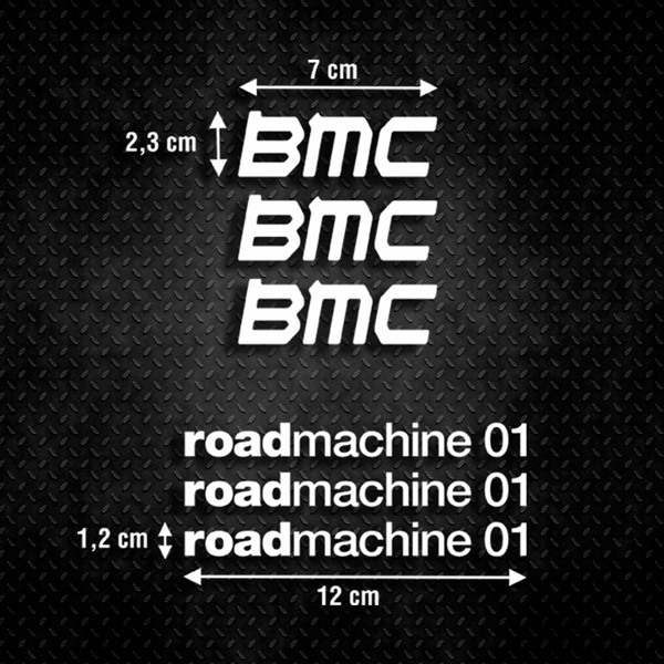 Pegatinas: Set 6X BMC roadmachine 01