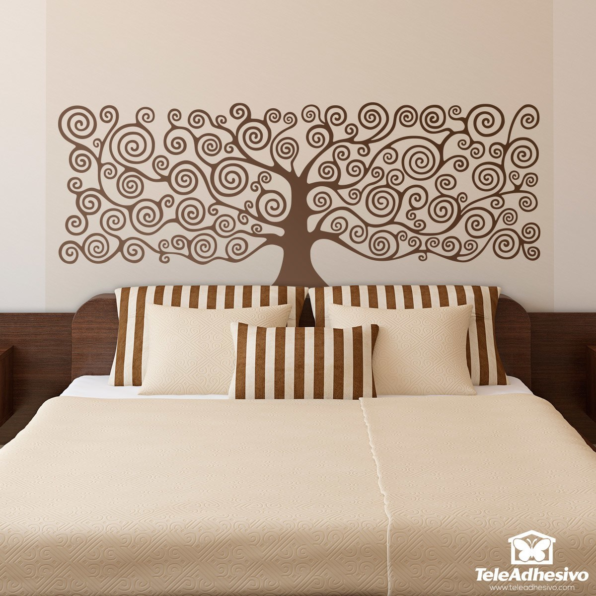 Vinilo decorativo del rbol de la vida de klimt for Vinilos para dormitorios de matrimonio