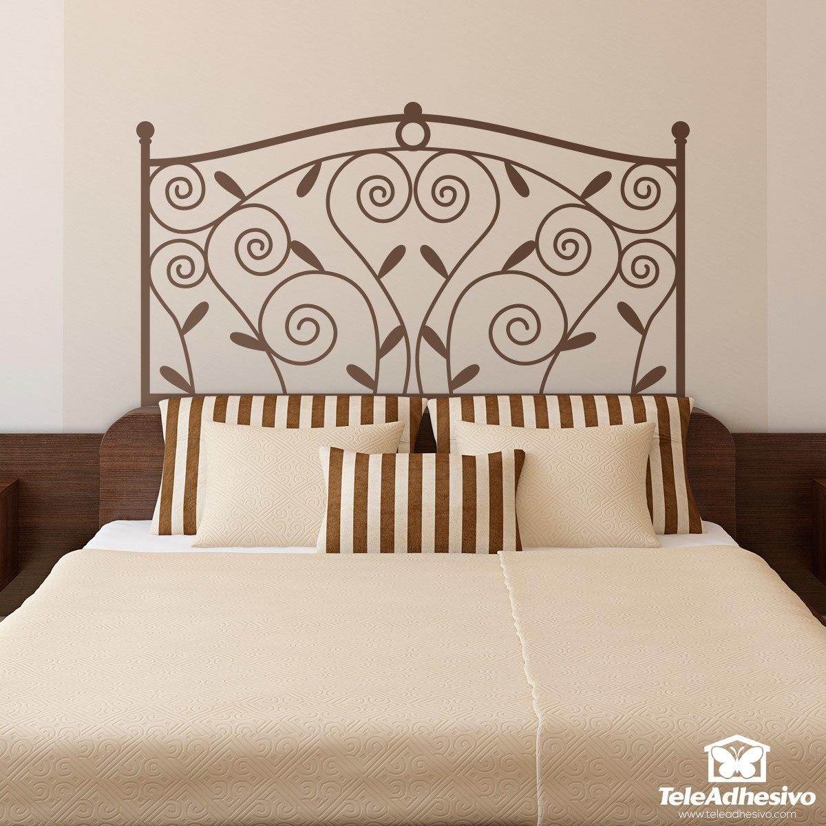 Vinilo cabecero de cama classic for Vinilos decorativos df