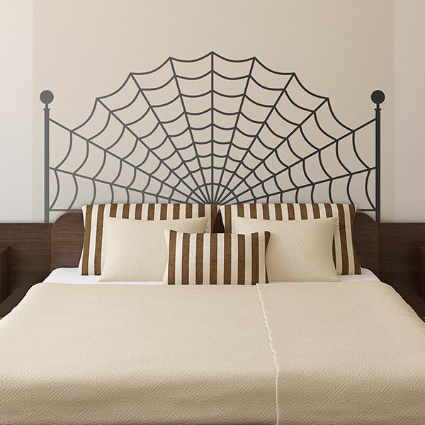 vinilos decorativos cabecero tela de araa - Cabecero Tela