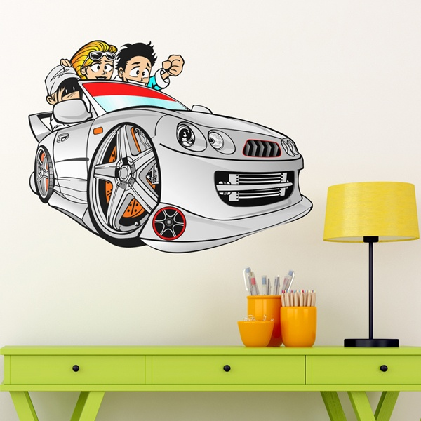 Vinilos Infantiles: Cartoon Car
