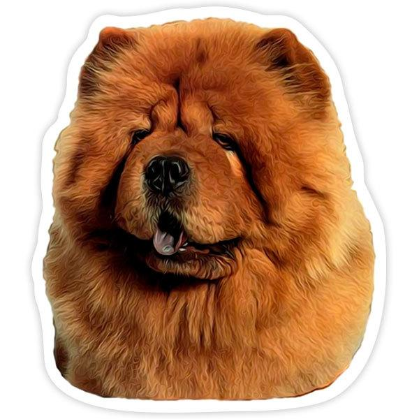 Pegatinas: Red Chow Chow
