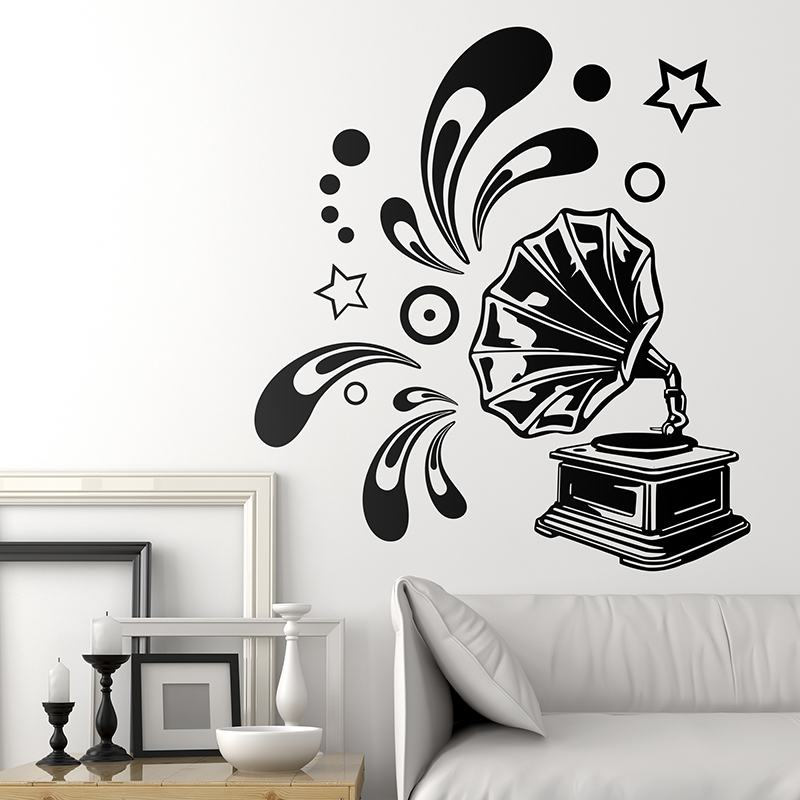 La gramola for Vinilo decorativo musical pared
