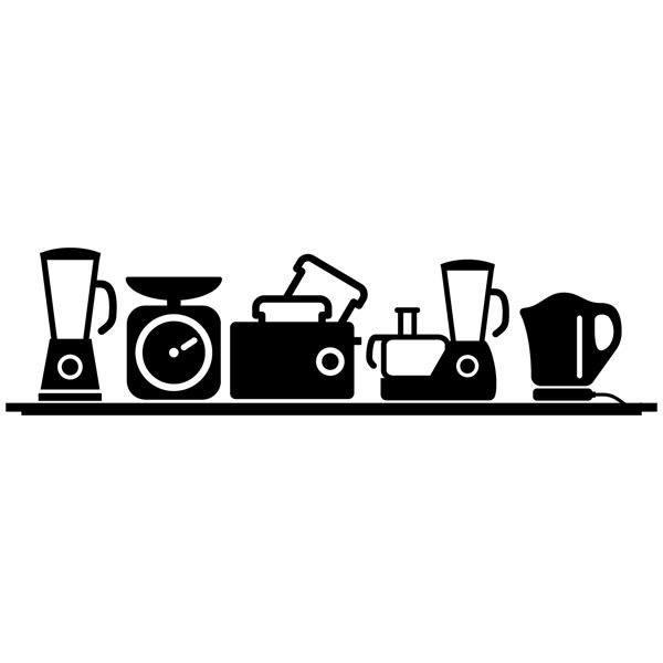 Vinilo de cocina peque os electrodom sticos - Vinilos decorativos para electrodomesticos ...