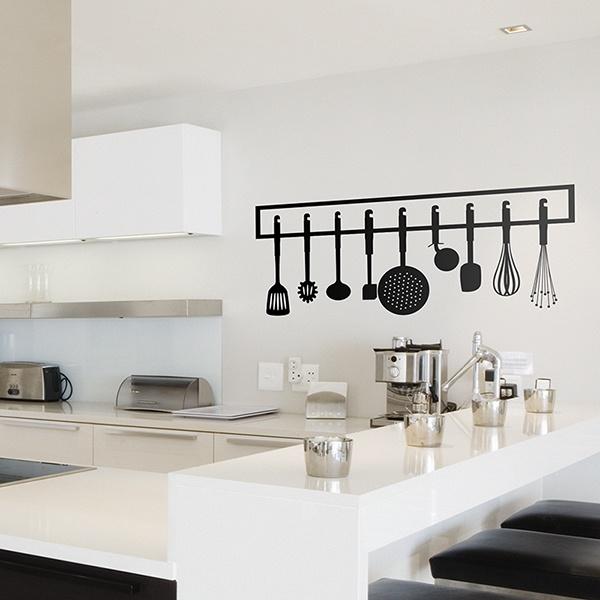 Vinilo decorativo instrumentos de cocina - Papel de vinilo para cocinas ...