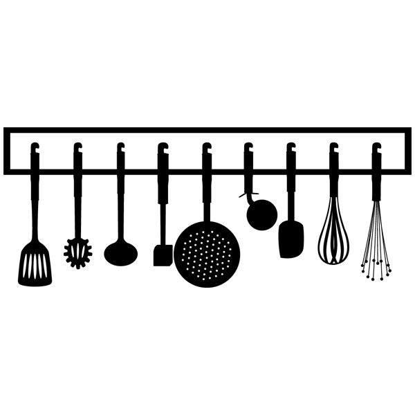 Vinilo decorativo instrumentos de cocina - Instrumentos de cocina ...