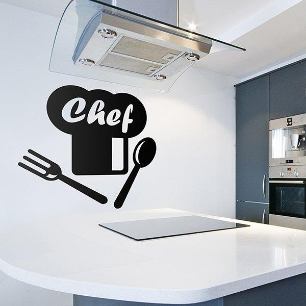 Vinilo para cocina chef - Cocinas chef ...