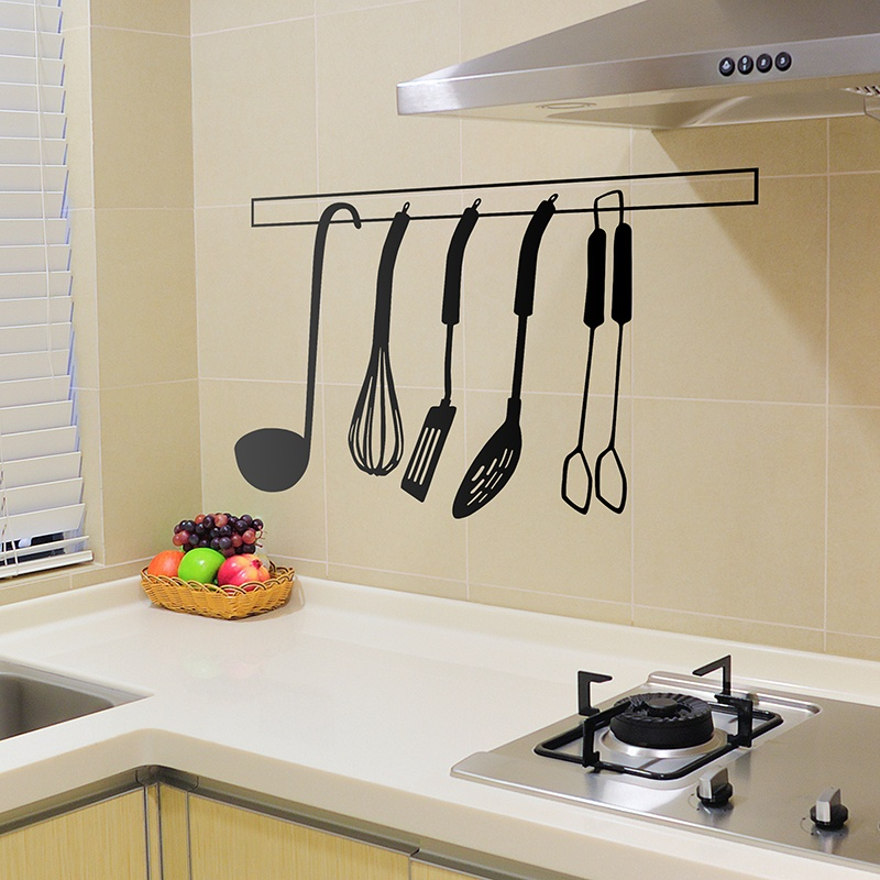 Vinilo decorativo utensilios de cocina - Vinilo para cocinas ...