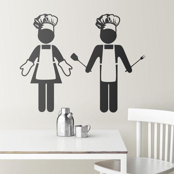Vinilo para cocina de cocinera y cocinero - Vinilo para cocina ...