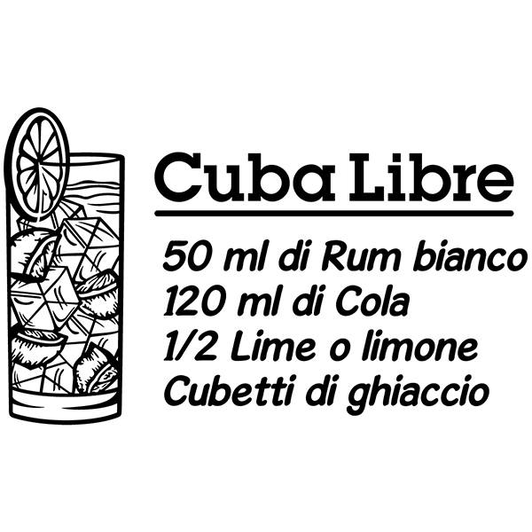 Vinilos Decorativos: Cocktail Cuba Libre - italiano