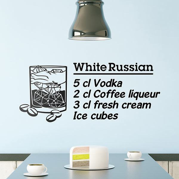 Vinilos Decorativos: Cocktail Ruso Blanco - inglés
