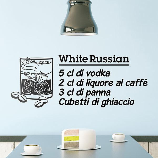Vinilos Decorativos: Cocktail Ruso Blanco - italiano