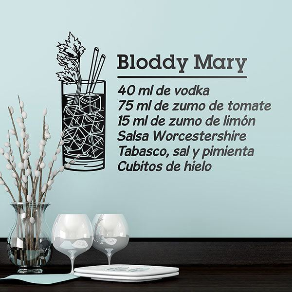 Vinilos Decorativos: Cocktail Bloddy Mary - español
