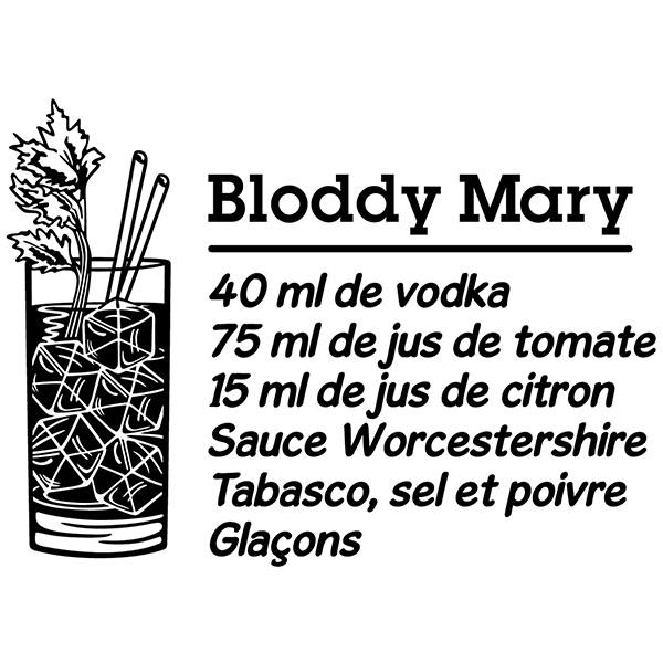 Vinilos Decorativos: Cocktail Bloddy Mary - francés