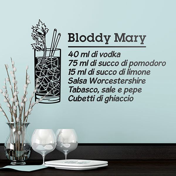 Vinilos Decorativos: Cocktail Bloddy Mary - italiano