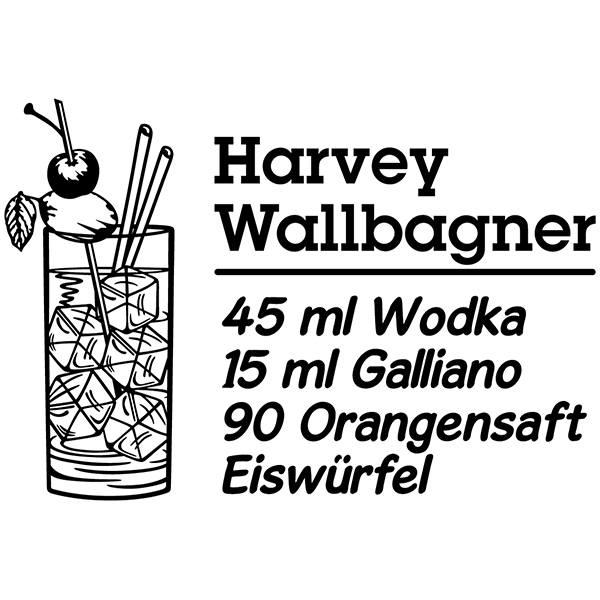Vinilos Decorativos: Cocktail Harvey Wallbagner - alemán