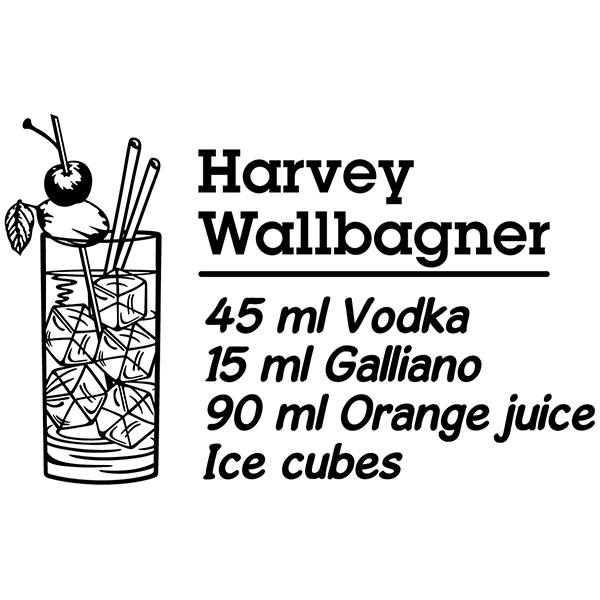 Vinilos Decorativos: Cocktail Harvey Wallbagner - inglés