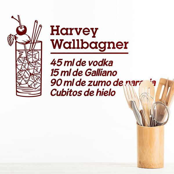 Vinilos Decorativos: Cocktail Harvey Wallbagner - español