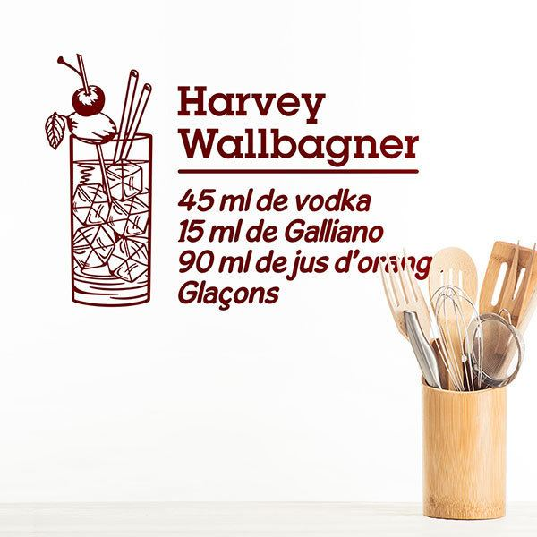 Vinilos Decorativos: Cocktail Harvey Wallbagner - francés 0