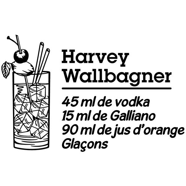 Vinilos Decorativos: Cocktail Harvey Wallbagner - francés