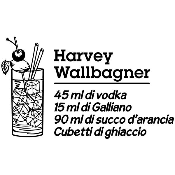 Vinilos Decorativos: Cocktail Harvey Wallbagner - italiano