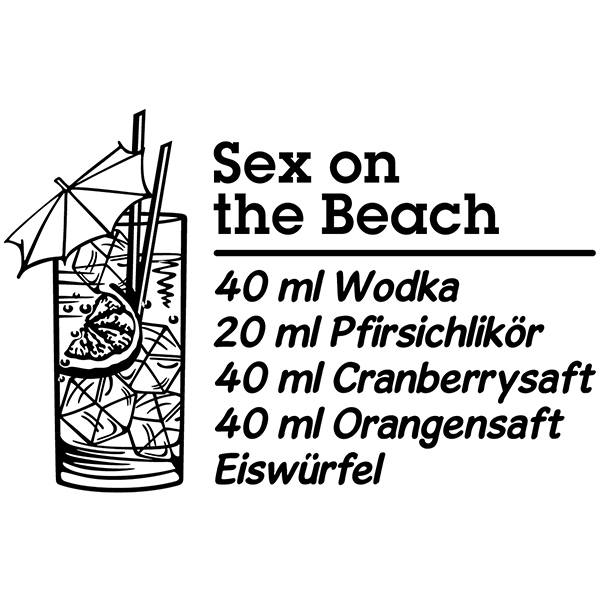Vinilos Decorativos: Cocktail Sex on the Beach - alemán