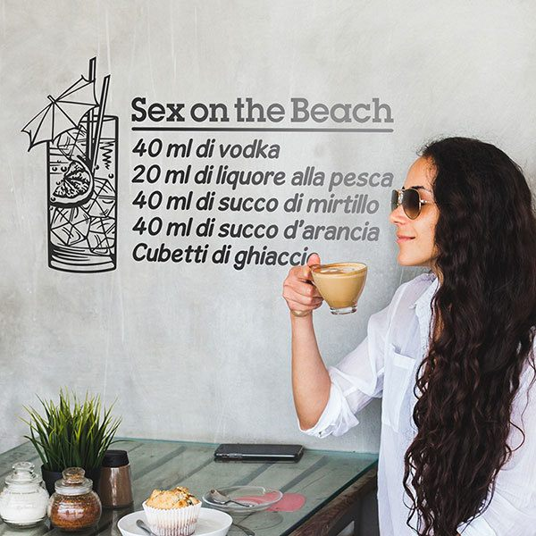 Vinilos Decorativos: Cocktail Sex on the Beach - italiano