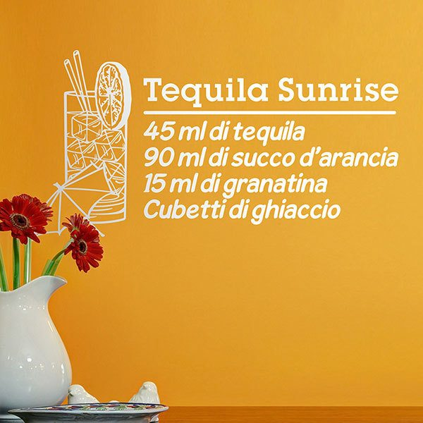 Vinilos Decorativos: Cocktail Tequila Sunrise - italiano