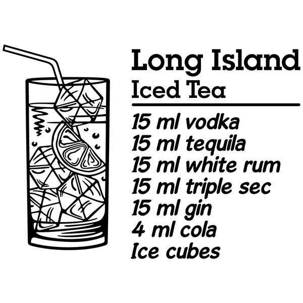Vinilos Decorativos: Cocktail Long Island - inglés