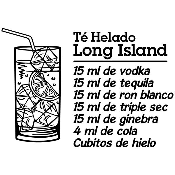 Vinilos Decorativos: Cocktail Long Island - español