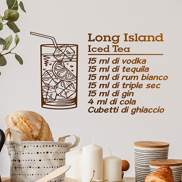 Vinilos Decorativos: Cocktail Long Island - italiano