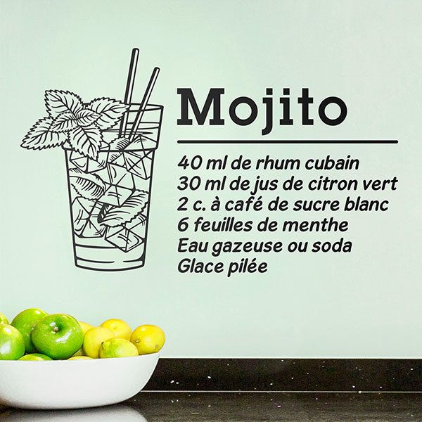 Vinilos Decorativos: Cocktail Mojito - francés 0