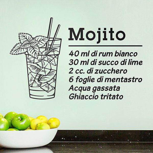 Vinilos Decorativos: Cocktail Mojito - italiano