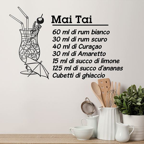 Vinilos Decorativos: Cocktail Mai Tai - italiano 0