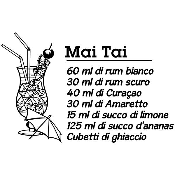 Vinilos Decorativos: Cocktail Mai Tai - italiano