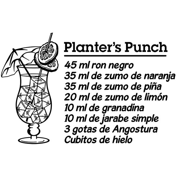 Vinilos Decorativos: Cocktail Planter's Punch - español
