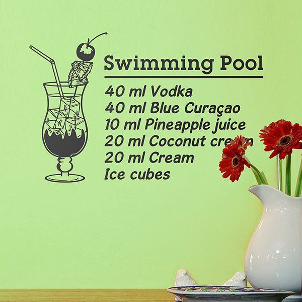 Vinilos Decorativos: Cocktail Swimming Pool - inglés