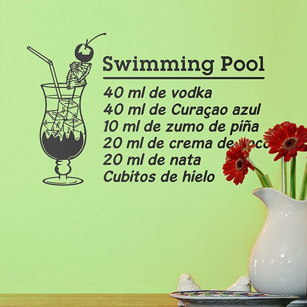 Vinilos Decorativos: Cocktail Swimming Pool - español
