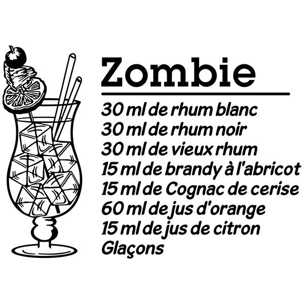Vinilos Decorativos: Cocktail Zombie - francés