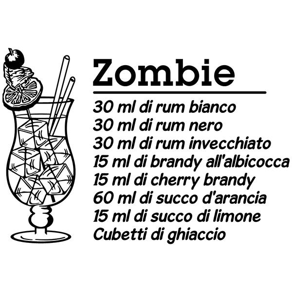 Vinilos Decorativos: Cocktail Zombie - italiano