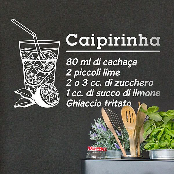 Vinilos Decorativos: Cocktail Caipiriña - italiano 0
