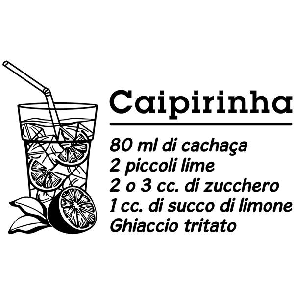 Vinilos Decorativos: Cocktail Caipiriña - italiano