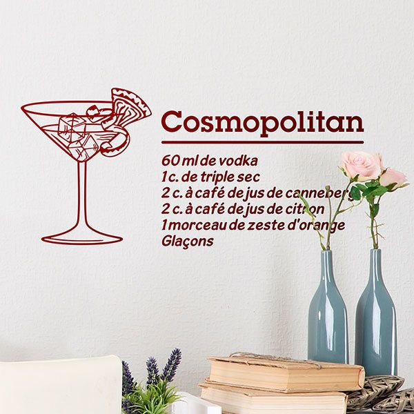 Vinilos Decorativos: Cocktail Cosmopolitan - francés 0
