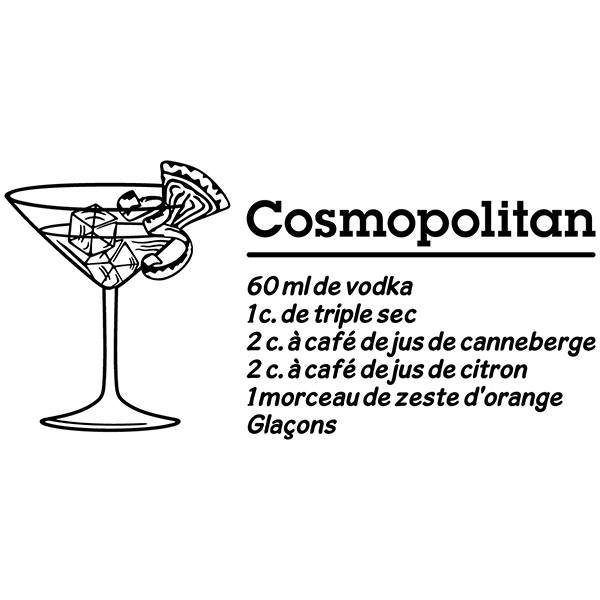 Vinilos Decorativos: Cocktail Cosmopolitan - francés
