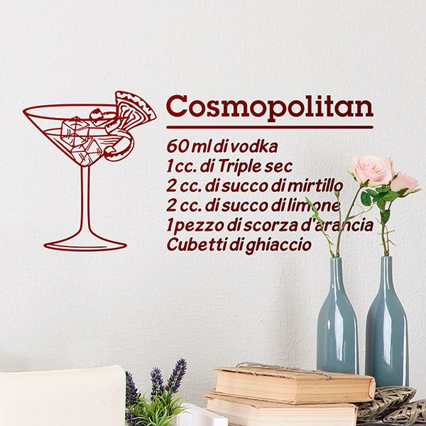 Vinilos Decorativos: Cocktail Cosmopolitan - italiano