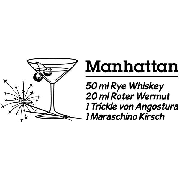 Vinilos Decorativos: Cocktail Manhattan - alemán