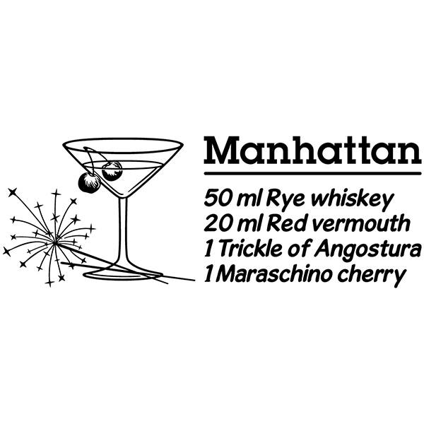 Vinilos Decorativos: Cocktail Manhattan - inglés